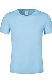 男性用 Tシャツ ラウンドネック スリム ソリッド / 半袖