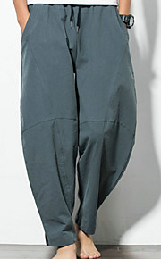 男性用 ベーシック プラスサイズ チノパン パンツ - ソリッド ブラック