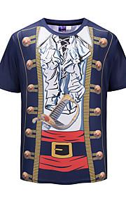 男性用 プリント Tシャツ 誇張された 3D