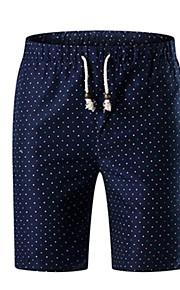 男性用 ストリートファッション プラスサイズ ショーツ パンツ - 水玉 / 波点 ブルー