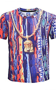 男性用 Tシャツ ベーシック 幾何学模様
