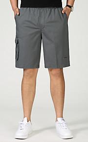 男性用 ベーシック プラスサイズ ショーツ パンツ - ソリッド ダックグレー