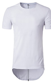 男性用 Tシャツ ラウンドネック ソリッド / 半袖