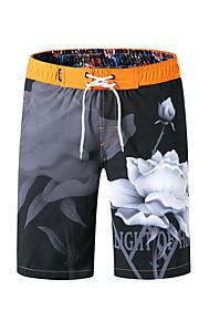 男性用 オレンジ イエロー Light Blue スイミングトランクス ボトムス スイムウェア - 幾何学模様 XL XXL XXXL オレンジ