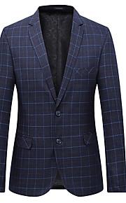 男性用 スーツ, ソリッド ノッチドラペル ポリエステル ブルー / ネイビーブルー XXXXL / XXXXXL / XXXXXXL
