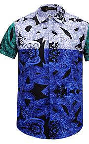メンズアジアサイズシャツ - 花柄シャツカラー