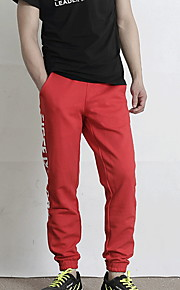 男性用 スウェットパンツ パンツ - レタード ブラック