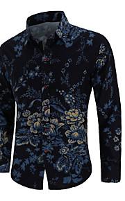 男性用 プリント シャツ フラワー