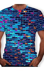 男性用 Tシャツ ラウンドネック レタード コットン