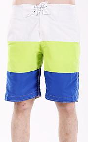 男性用 EU / USサイズ ブルー ホワイト ネイビーブルー スイミングトランクス ボトムス スイムウェア - カラーブロック L XL XXL ブルー