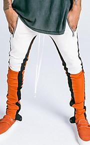 男性用 スウェットパンツ パンツ - カラーブロック ブラック