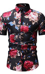 男性用 シャツ 活発的 / ベーシック 幾何学模様