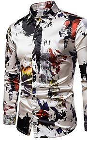 男性用 シャツ スリム カラーブロック
