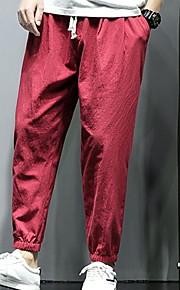男性用 アジアン・エスニック スウェットパンツ パンツ - ソリッド ブラック