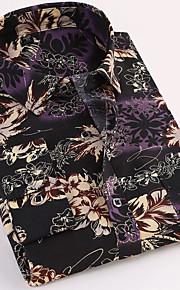 男性用 シャツ レギュラーカラー 幾何学模様