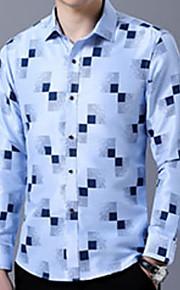 男性用 パッチワーク シャツ カラーブロック