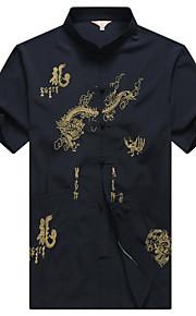 Муж. Рубашка Животное Темно синий XL