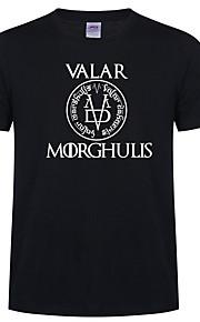 Ανδρικά T-shirt Γραφική / Γράμμα Ρουμπίνι XL