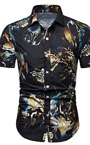 Муж. Рубашка Графика Черный L