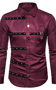 Skjorte Herre - Fargeblokk, Nagle / Lapper Svart XL