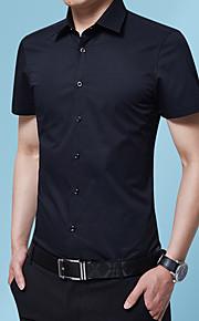 Heren Geborduurd Overhemd Grafisch Zwart XXXL