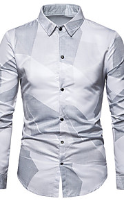 Camicia Per uomo Tinta unita Bianco XL