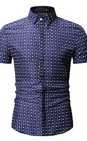 Муж. Рубашка Геометрический принт Синий XL