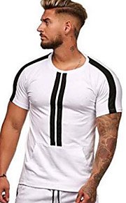 Camiseta slim para hombre - bloque de color cuello redondo