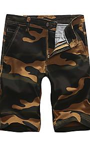 Hombre Deportivo Chinos / Shorts Pantalones - Estampado Gris