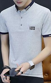 Ανδρικά T-shirt Μονόχρωμο Θαλασσί XL