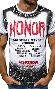 Ανδρικά T-shirt Γράμμα Λευκό XL