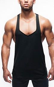 Ανδρικά Αμάνικη Μπλούζα Μονόχρωμο Στάμπα Θαλασσί M
