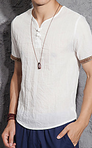 Hombre Camiseta Un Color Marrón claro XXXL
