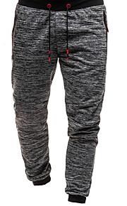 Muškarci Sportski Chinos / Sportske hlače Hlače - Jednobojni Tamno siva