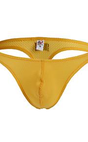 мужское нижнее белье стринги - сетка 1 шт. с низкой талией