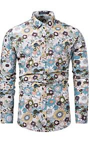 Skjorte Herre - Blomstret Svart L