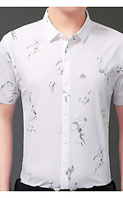 Heren Overhemd Geometrisch blauw XXL