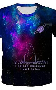 camiseta de hombre - carta / retrato / estampado 3d