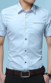 Heren Geborduurd Overhemd Grafisch Grijs XXXL