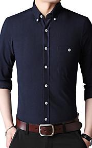 Муж. Рубашка Однотонный Верблюжий XXXL