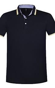 Hombre Camiseta Un Color Negro XXL