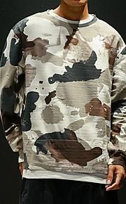 Hombre Básico Sudadera camuflaje