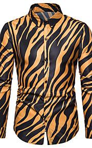 Skjorte Herre - Stripet, Trykt mønster Hvit XL