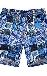 Hombre Deportivo / Activo Shorts Pantalones - Cuadros / A Cuadros / Floral Naranja