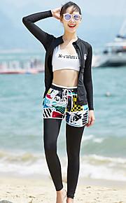 Dive&Sail Dámské Potápěčská kombinéza Prodyšné Ultra lehký (UL) Rychleschnoucí Spandex Oboustranný Plavky Oblečení na pláž Potápěčské obleky Patchwork 3 ks Plavání Potápění Surfing / Lehce elastické