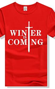 Ανδρικά T-shirt Γράμμα Ρουμπίνι XL