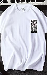 Hombre Estampado Camiseta Gráfico / Animal Blanco XL