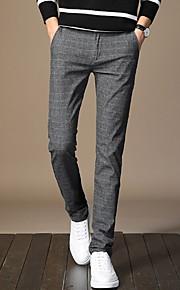 Ανδρικά Κομψό στυλ street Παντελόνι επίσημο Παντελόνι - Μονόχρωμο Μαύρο
