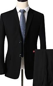 Hombre trajes Solapa Redonda Poliéster Azul Piscina / Negro / Azul Marino XXL / XXXL / XXXXL