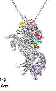 Dámské Geometrické Náhrdelník Kůň Moderní Půvab Stříbrná 16 cm Náhrdelníky Šperky 1ks Pro Denní